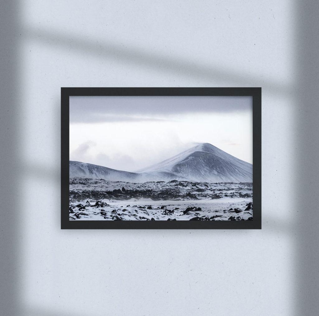 Cadre photo - Montagne Enneigée